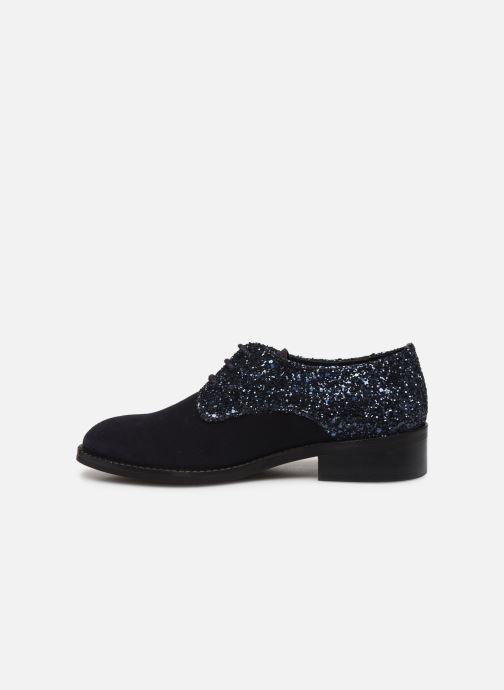 Zapatos con cordones Yep Georgine Azul vista de frente
