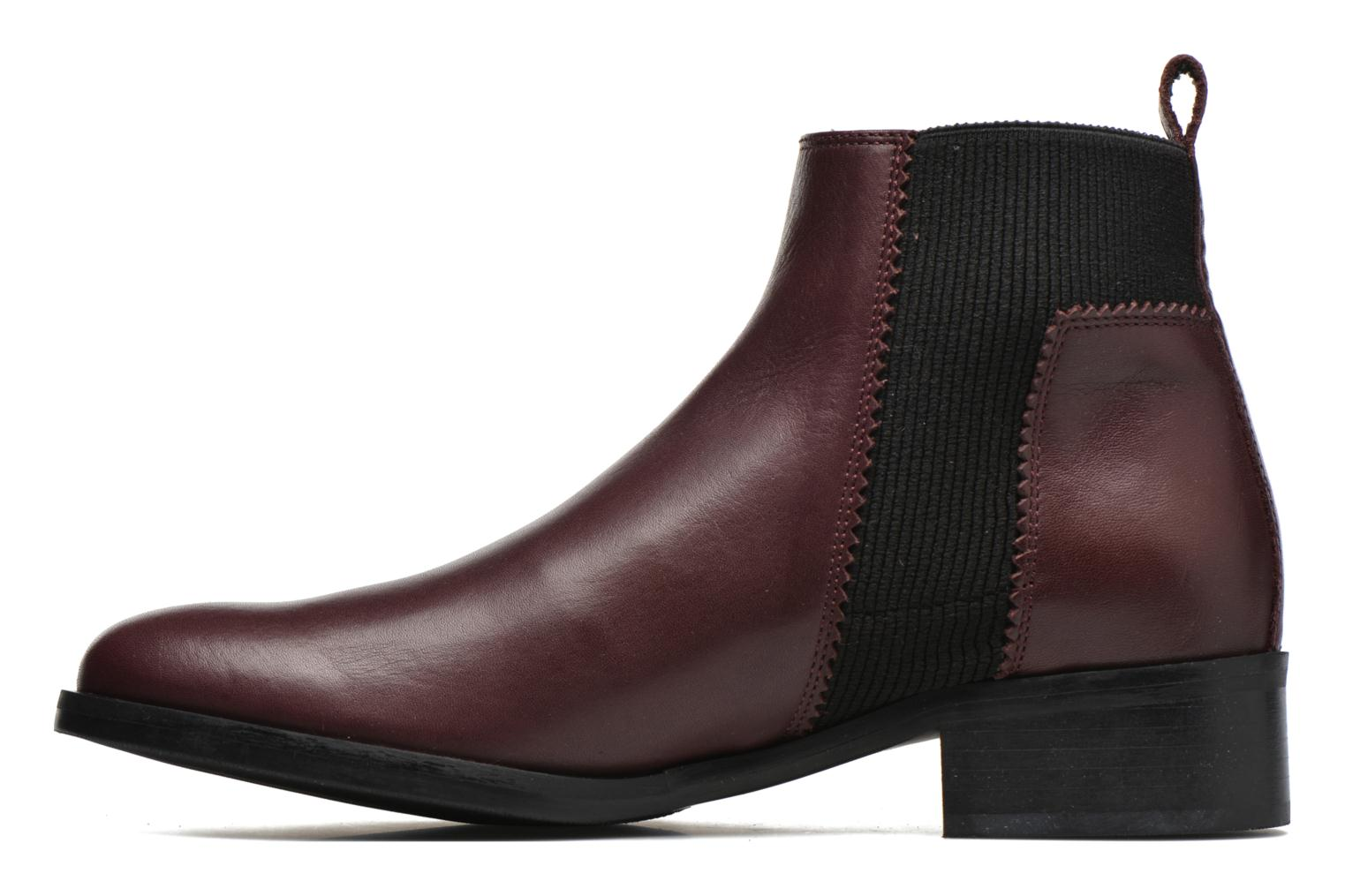 Bottines et boots Minelli Mièl Bordeaux vue face