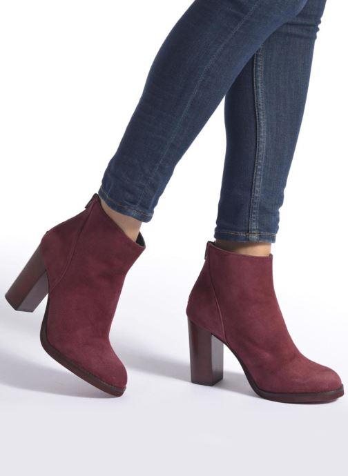Bottines et boots Minelli Orka Bordeaux vue bas / vue portée sac