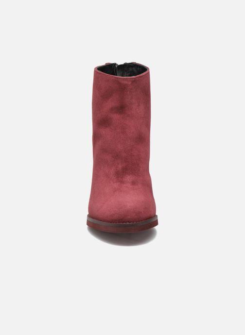 Bottines et boots Minelli Orka Bordeaux vue portées chaussures