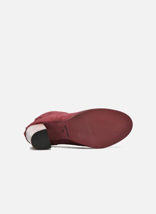 Bottines et boots Minelli Orka Bordeaux vue haut