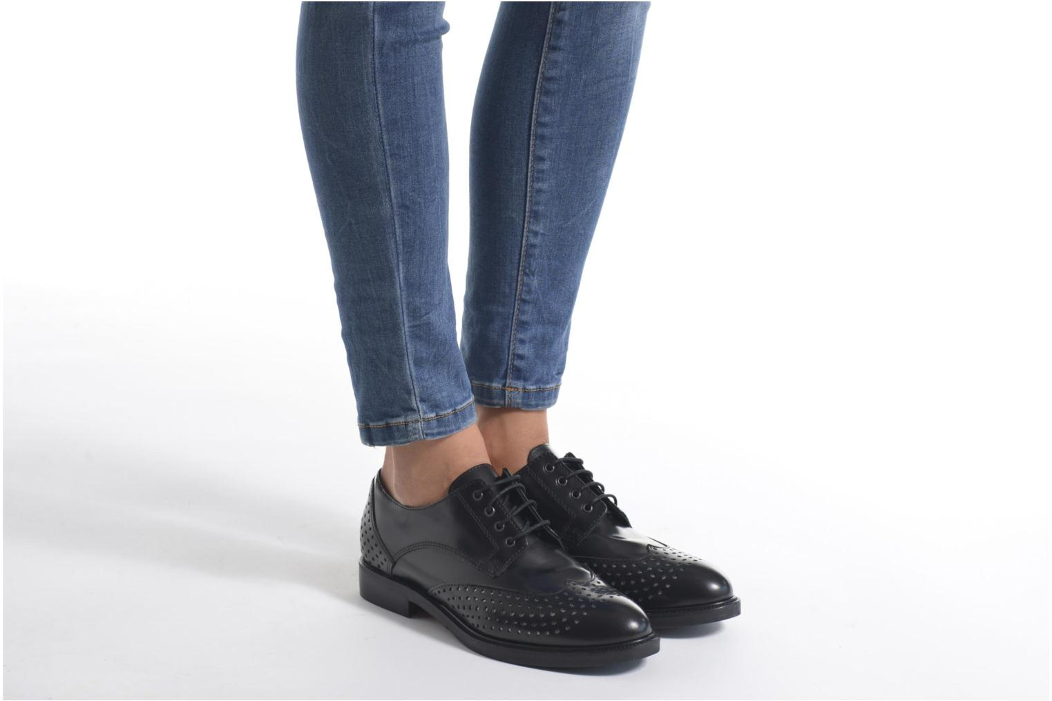 Lace-up shoes Minelli Elmé Black view from underneath / model view