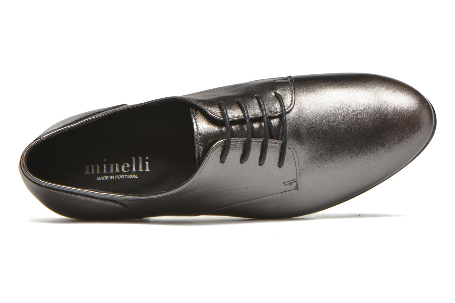 Lace-up shoes Minelli Biby Bronze and Gold view from the left