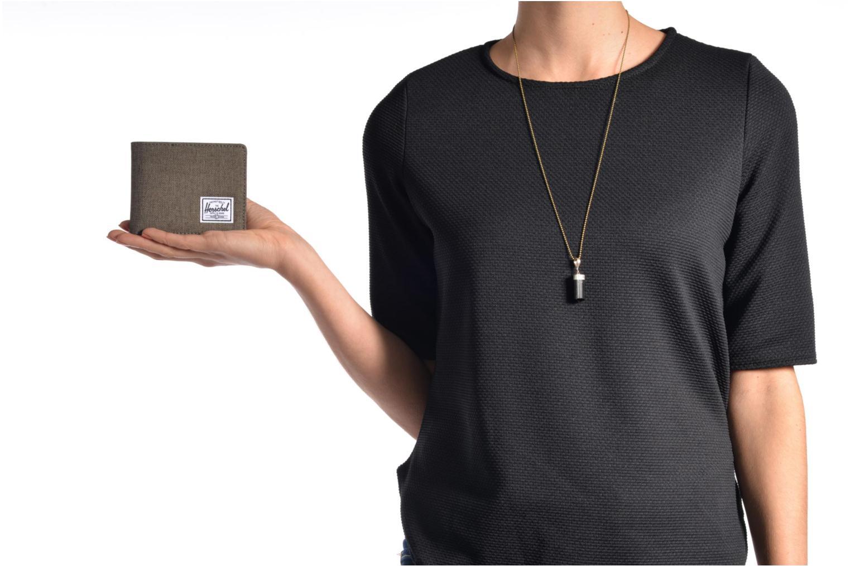 Petite Maroquinerie Herschel ROY COIN Portefeuille Noir vue haut