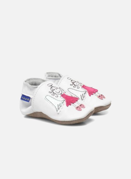 Chaussons Inch Blue Angel Blanc vue 3/4