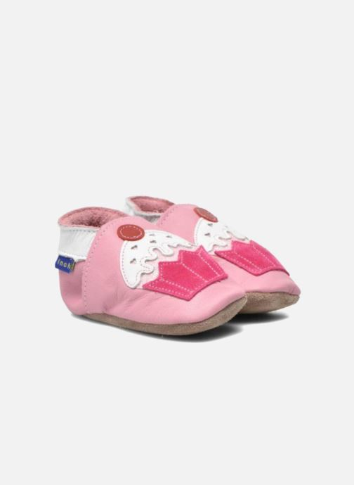 Slippers Inch Blue Little Cupcake Pink 3/4 view