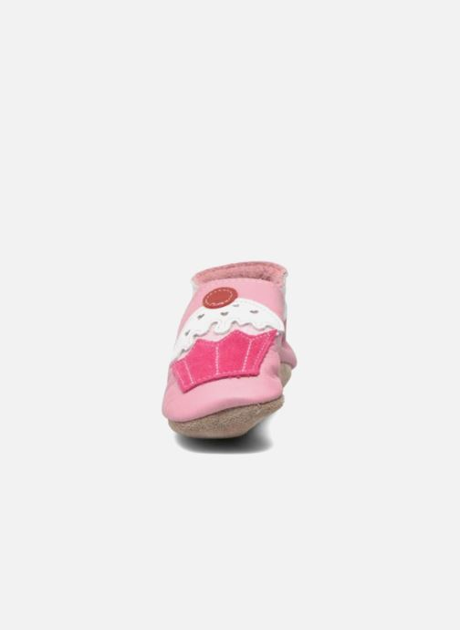 Slippers Inch Blue Little Cupcake Pink model view