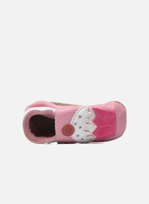 Slippers Inch Blue Little Cupcake Pink view from the left
