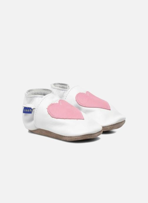 Slippers Inch Blue Love White 3/4 view