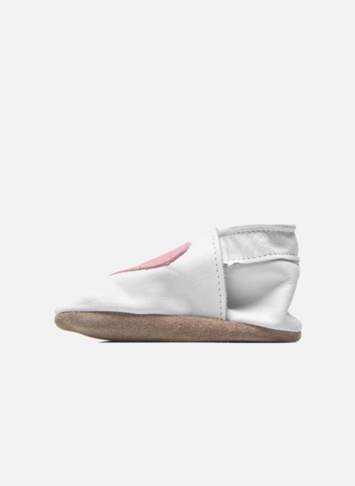 Chaussons Inch Blue Love Blanc vue face