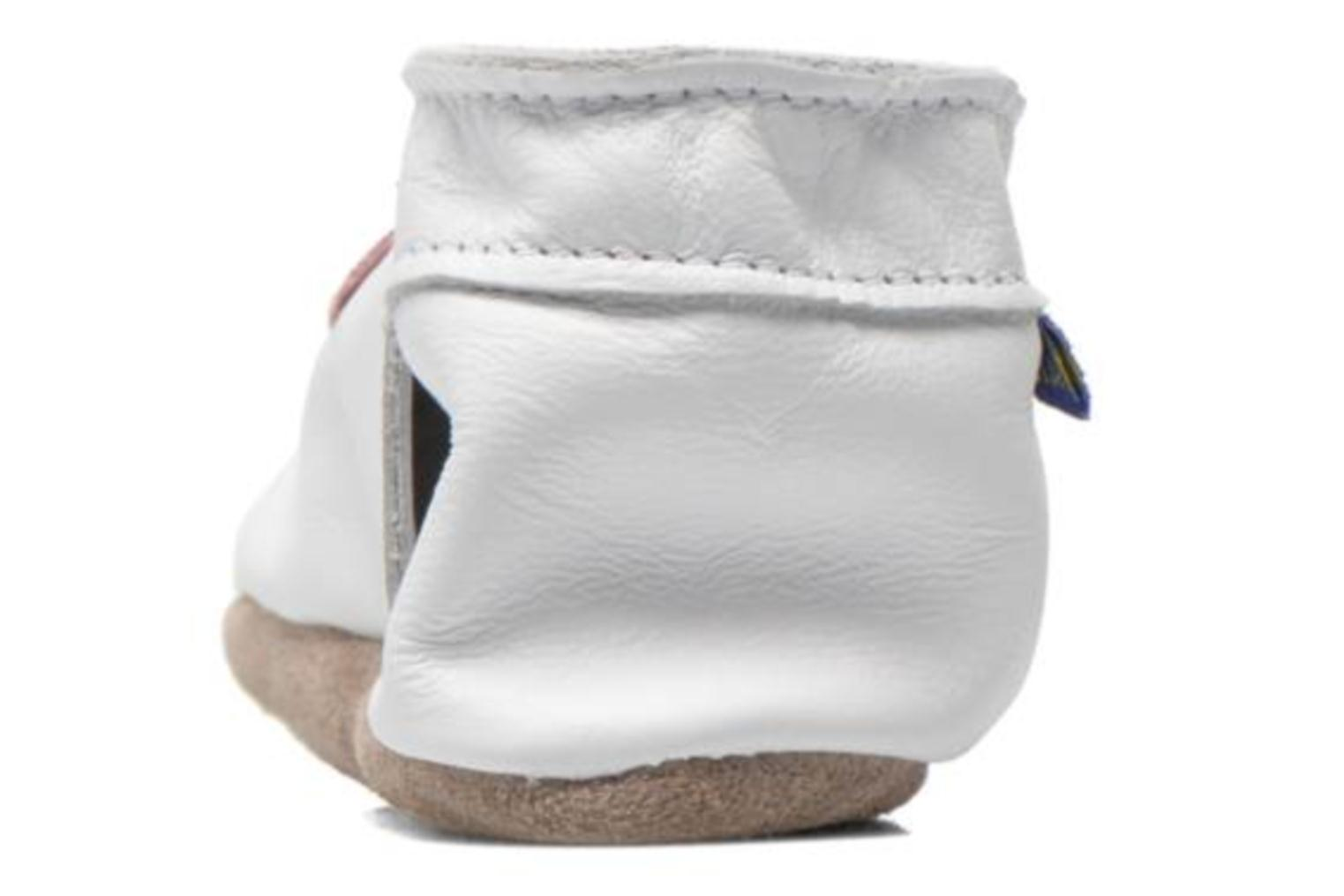 Slippers Inch Blue Love White view from the right