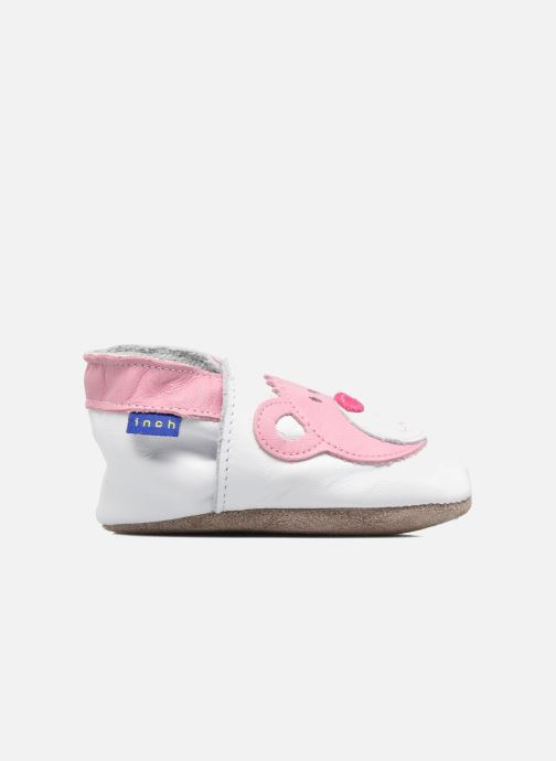 Slippers Inch Blue Teddy Pink White back view