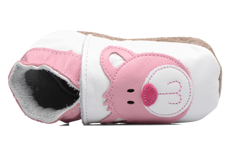Chaussons Inch Blue Teddy Pink Blanc vue gauche