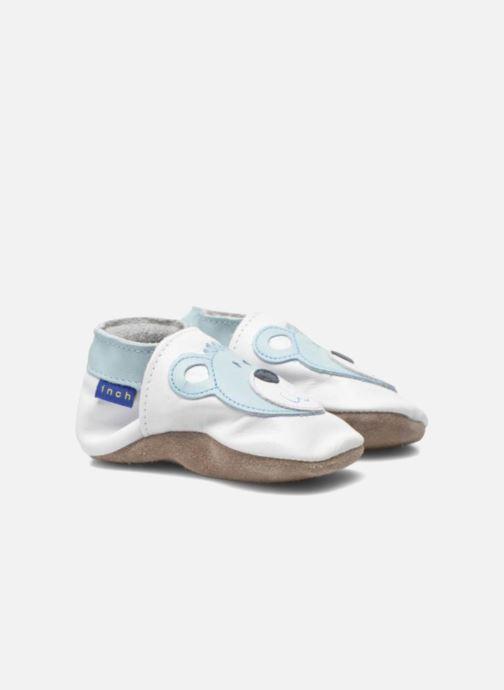 Pantofole Inch Blue Teddy Blue Bianco immagine 3/4
