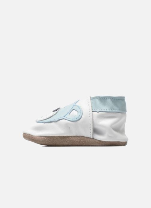 Chaussons Inch Blue Teddy Blue Blanc vue face