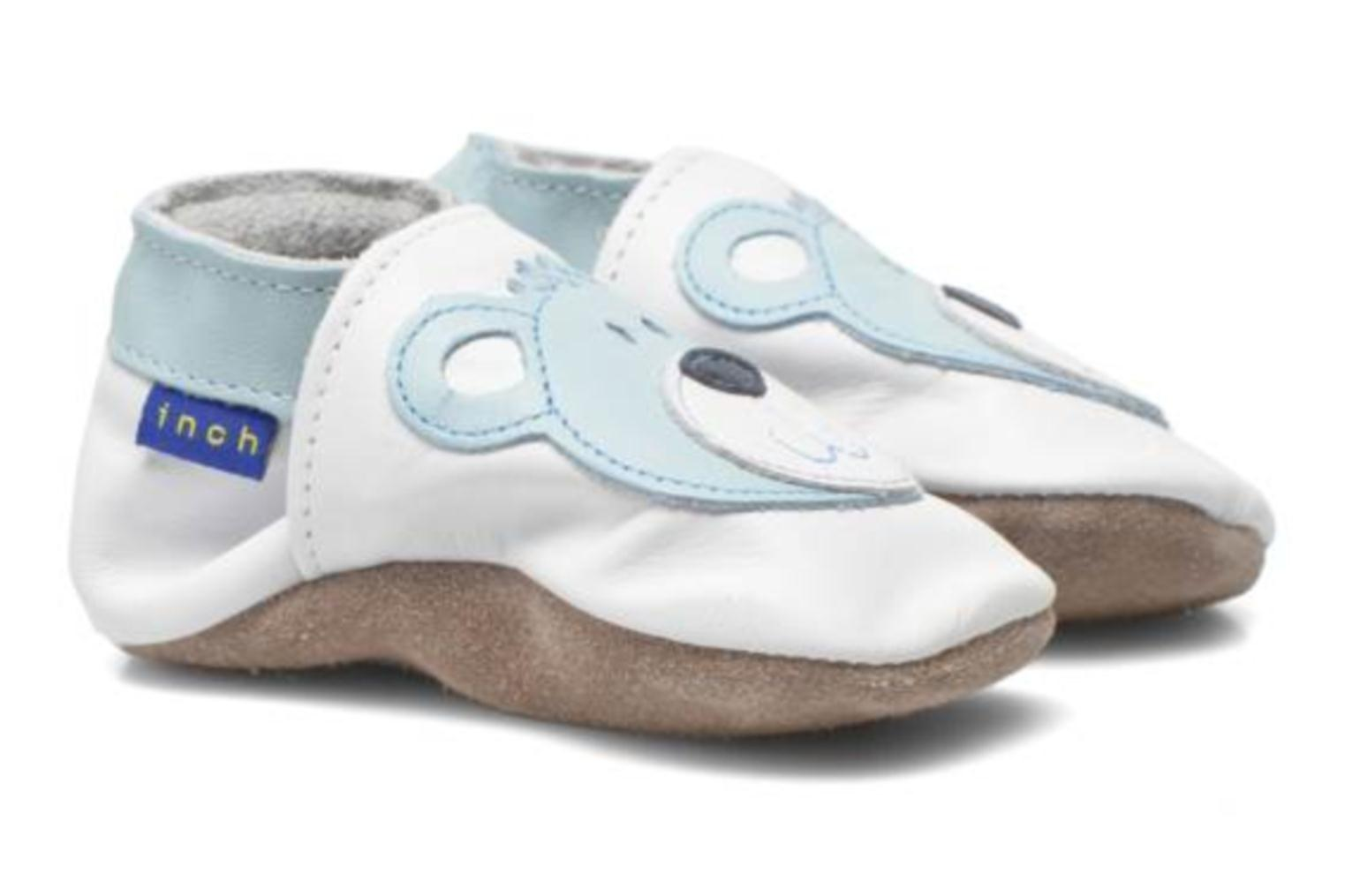 Slippers Inch Blue Teddy Blue White 3/4 view