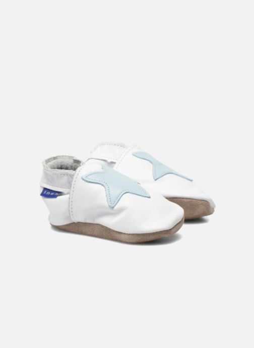 Slippers Inch Blue Star White 3/4 view