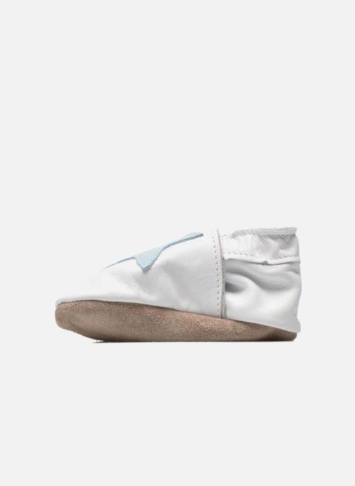 Slippers Inch Blue Star White front view
