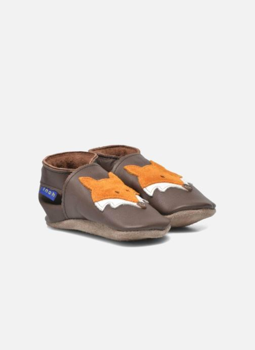 Slippers Inch Blue Mr Fox Brown 3/4 view