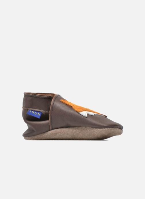 Slippers Inch Blue Mr Fox Brown back view