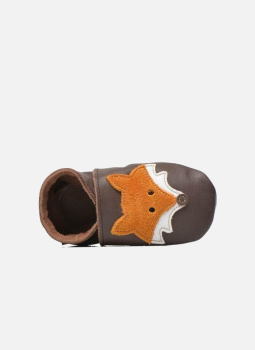 Slippers Inch Blue Mr Fox Brown view from the left
