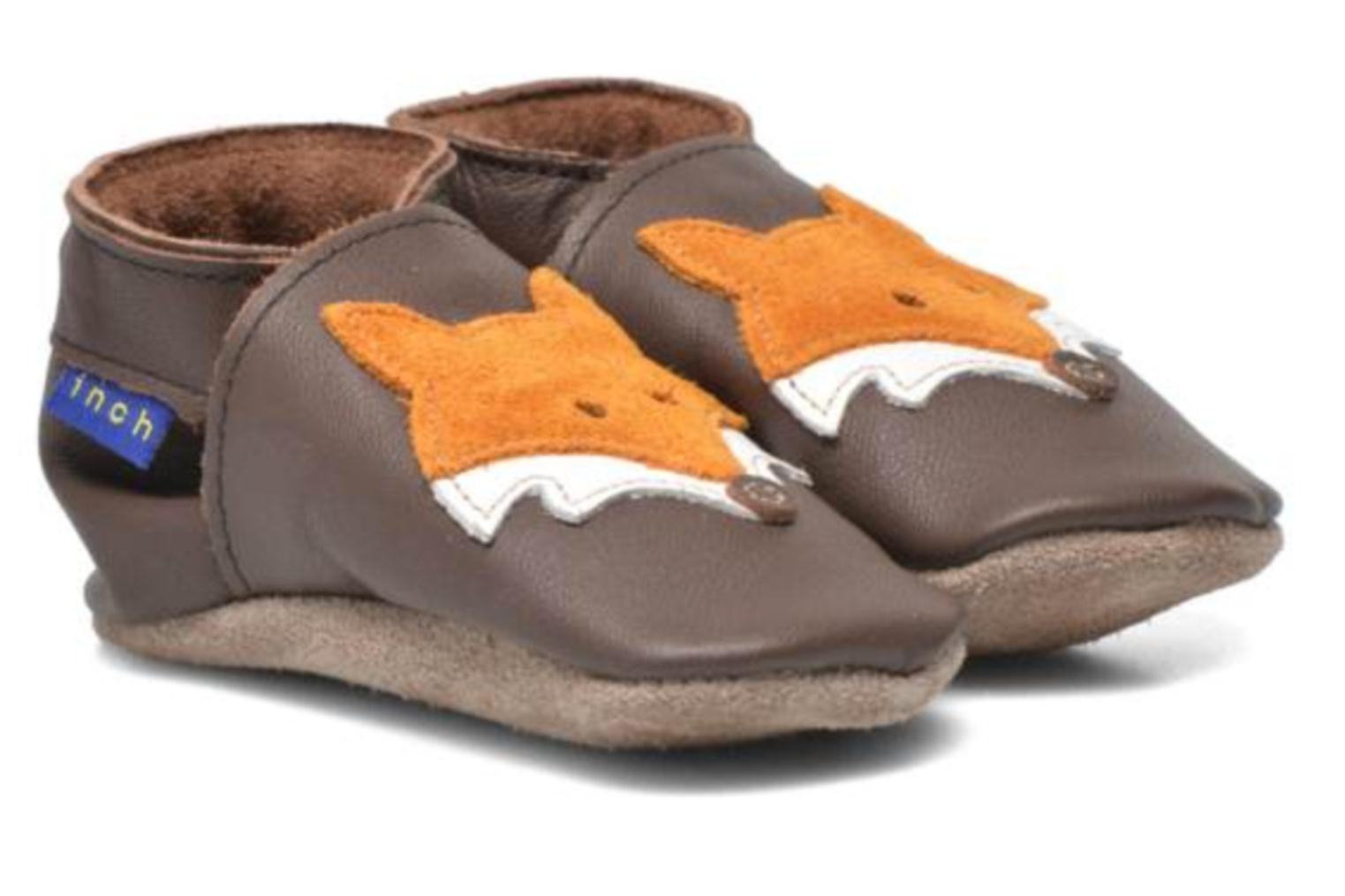 Chaussons Inch Blue Mr Fox Marron vue 3/4