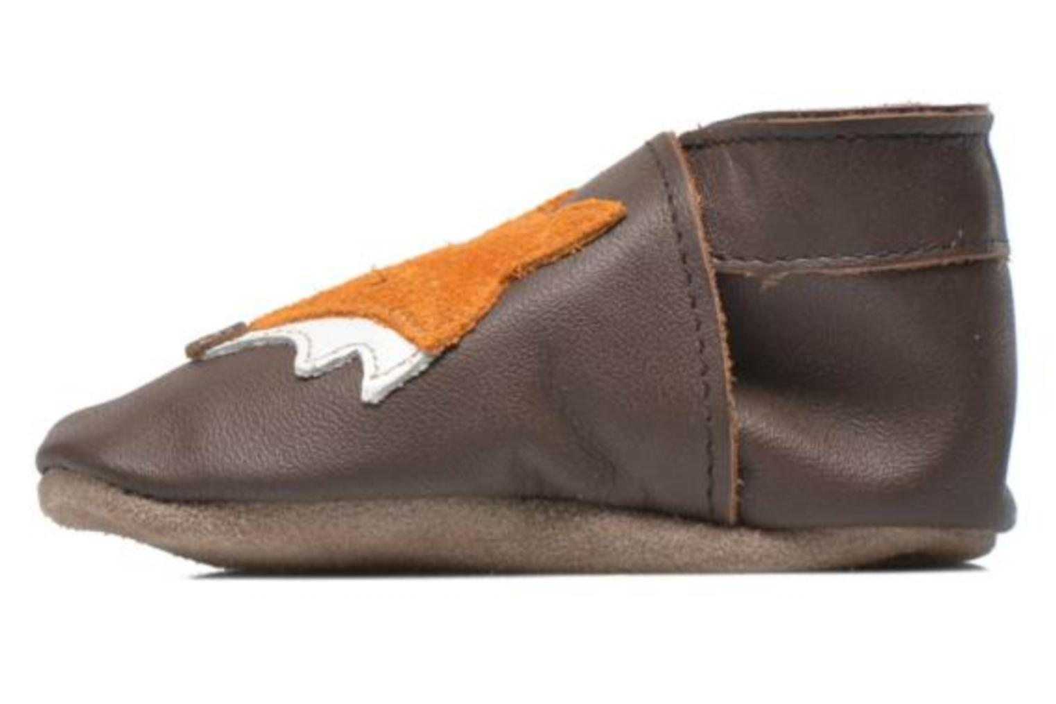 Chaussons Inch Blue Mr Fox Marron vue face