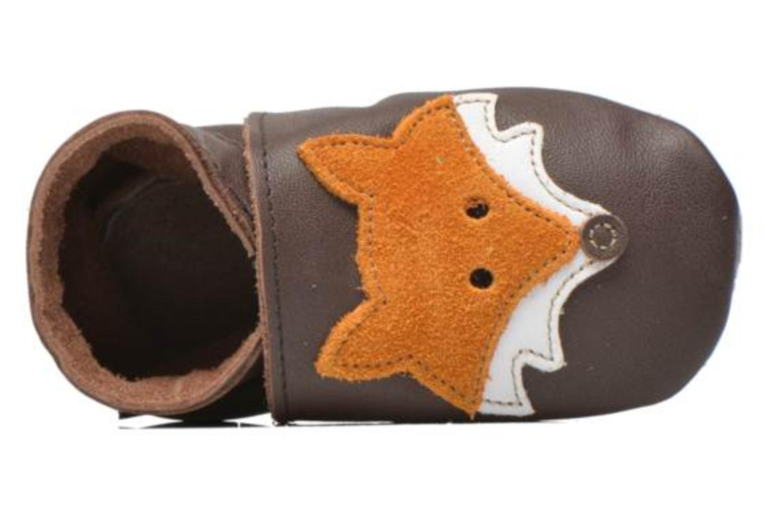 Chaussons Inch Blue Mr Fox Marron vue gauche