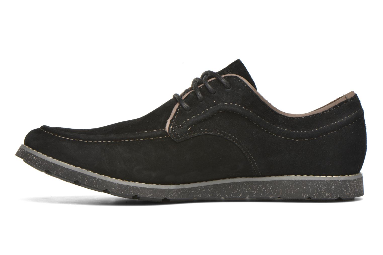 Lace-up shoes Hush Puppies Hade Jester Black front view