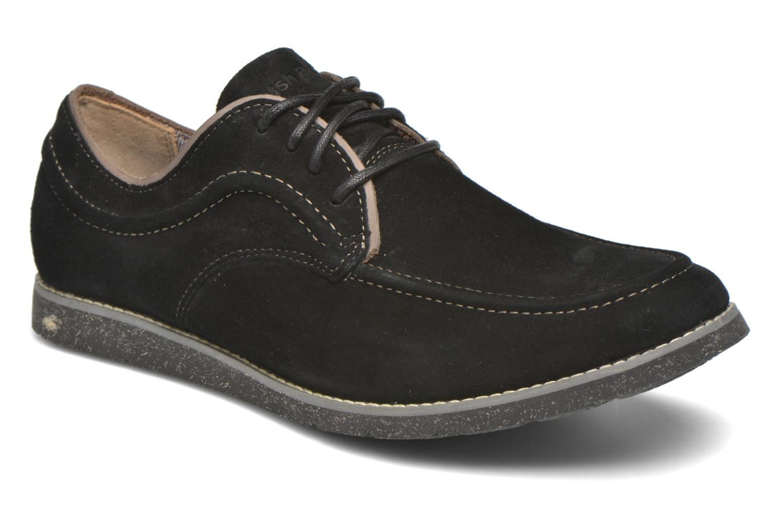 Lace-up shoes Hush Puppies Hade Jester Black detailed view/ Pair view