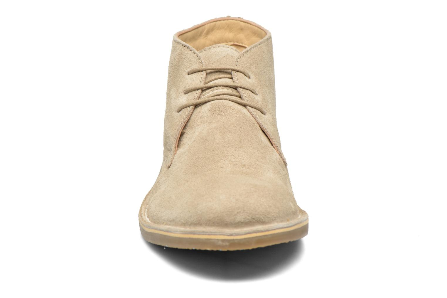 Chaussures à lacets Hush Puppies Lord Beige vue portées chaussures
