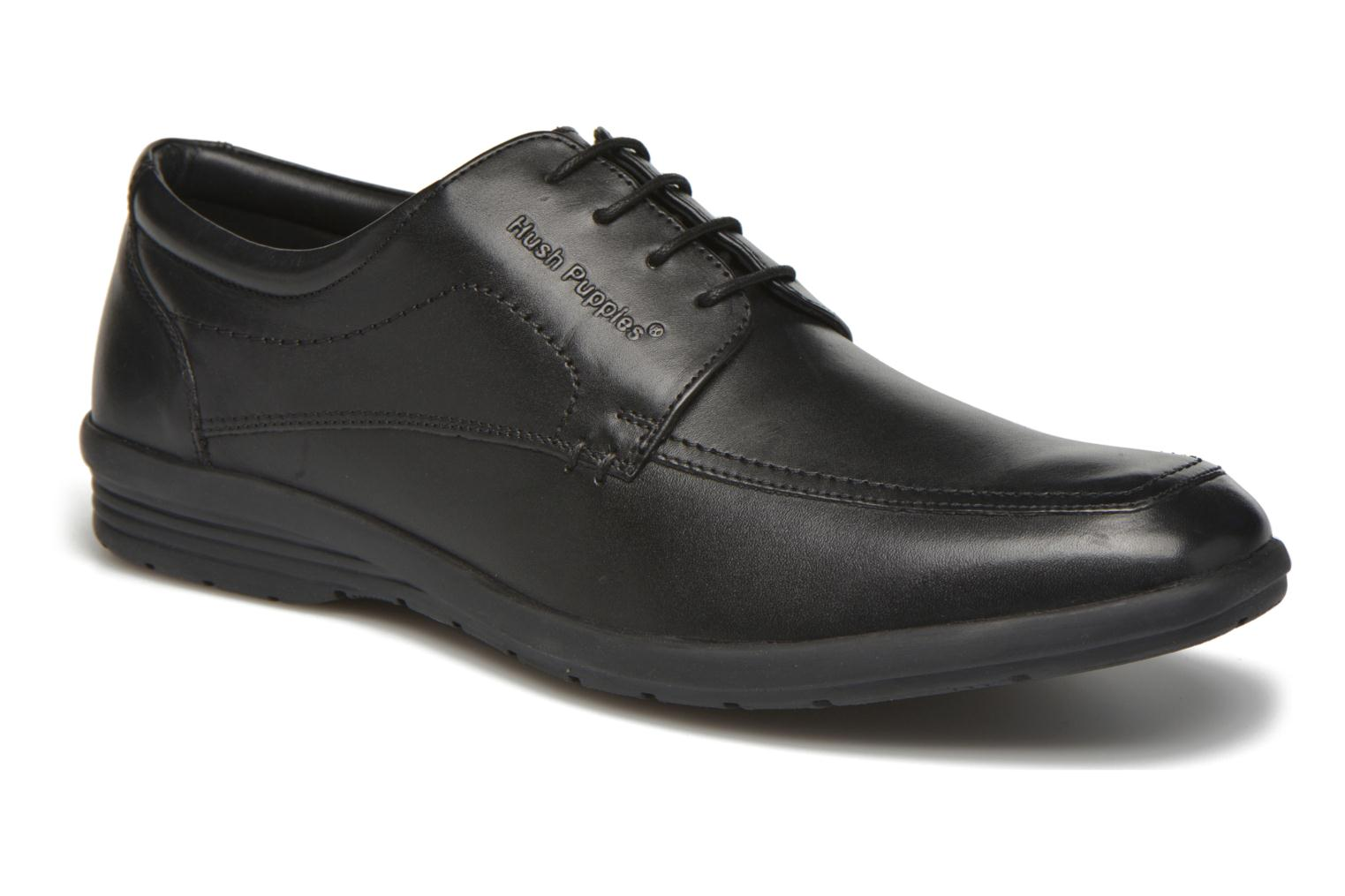 Lace-up shoes Hush Puppies Sam Black detailed view/ Pair view