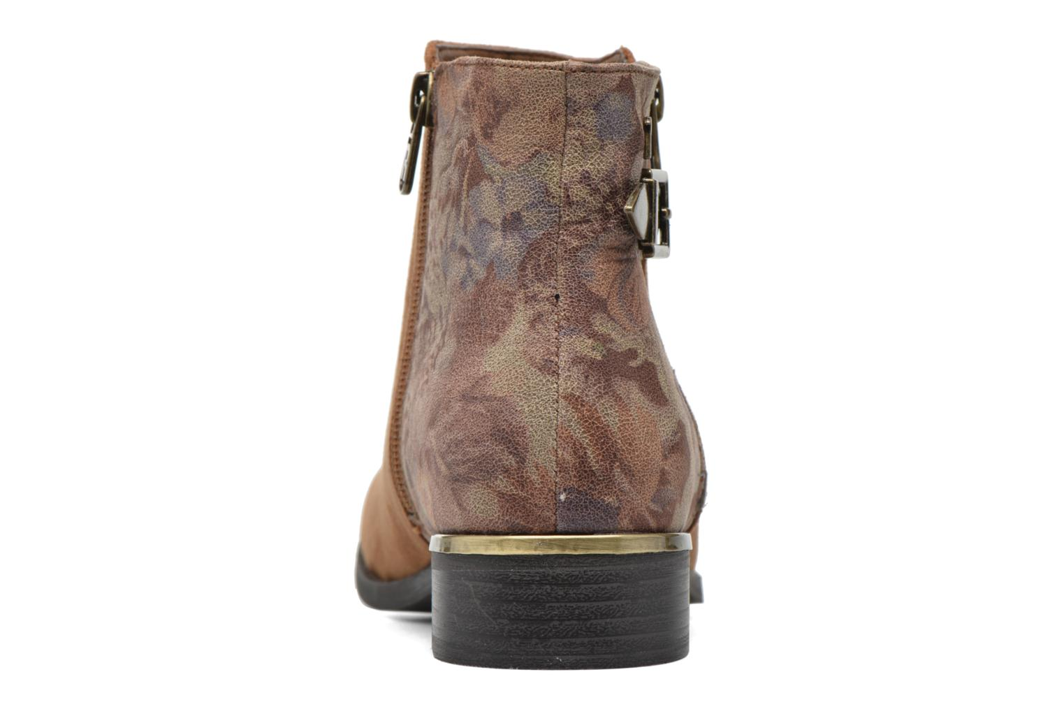 Ankle boots Refresh Marbré 62296 Brown view from the right
