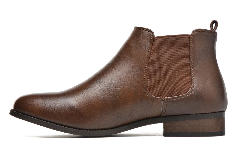 Bottines et boots Divine Factory Mailys Marron vue face