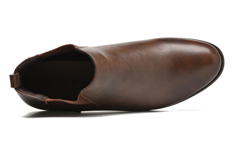 Bottines et boots Divine Factory Mailys Marron vue gauche