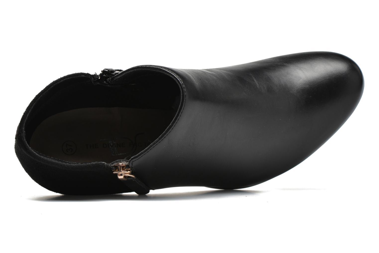 Bottines et boots Divine Factory Chloé Noir vue gauche