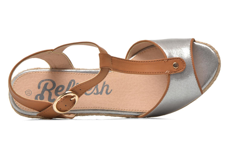 Sandales et nu-pieds Refresh Palino-60523 Argent vue gauche