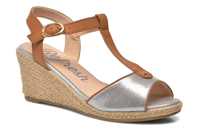 Sandales et nu-pieds Refresh Palino-60523 Argent vue détail/paire