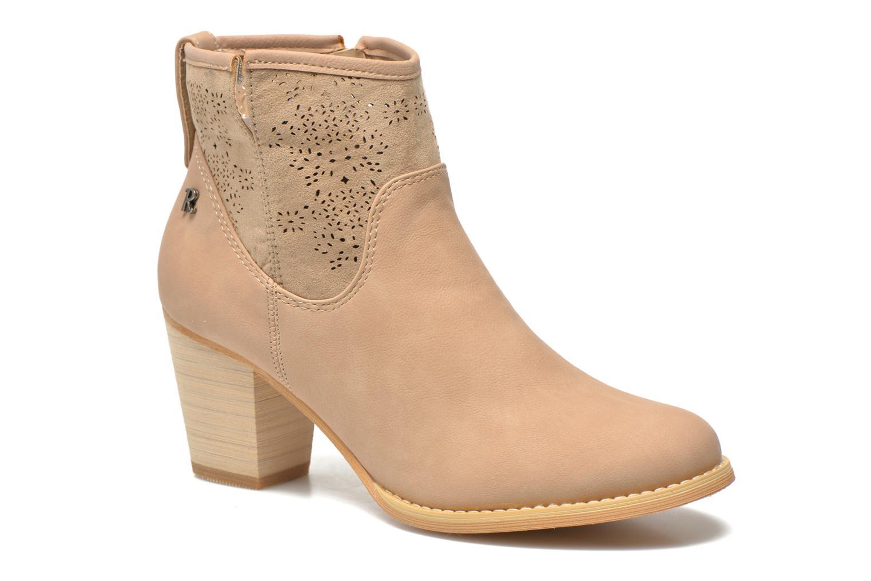 Bottines et boots Refresh Omalia-61706 Beige vue détail/paire