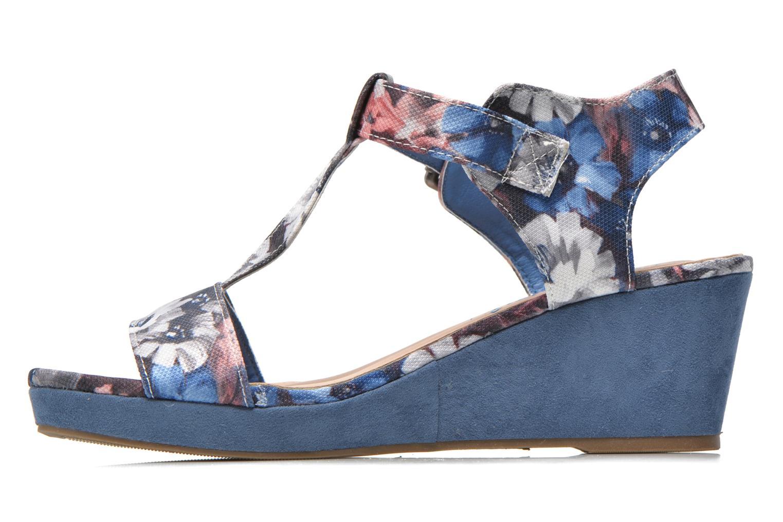 Sandales et nu-pieds Refresh Miralie-61768 Bleu vue face