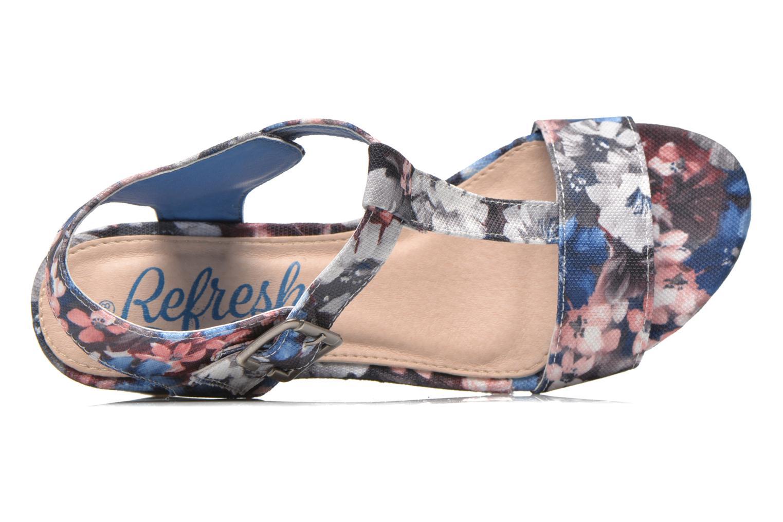 Sandales et nu-pieds Refresh Miralie-61768 Bleu vue gauche