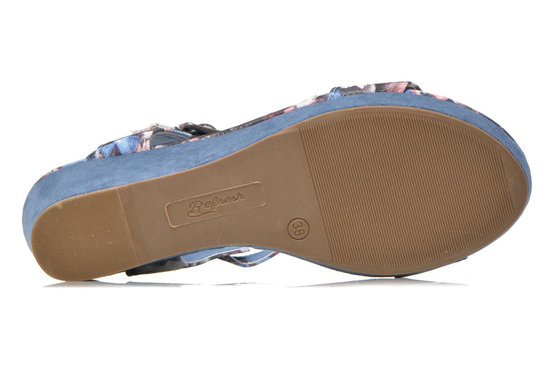 Sandales et nu-pieds Refresh Miralie-61768 Bleu vue haut