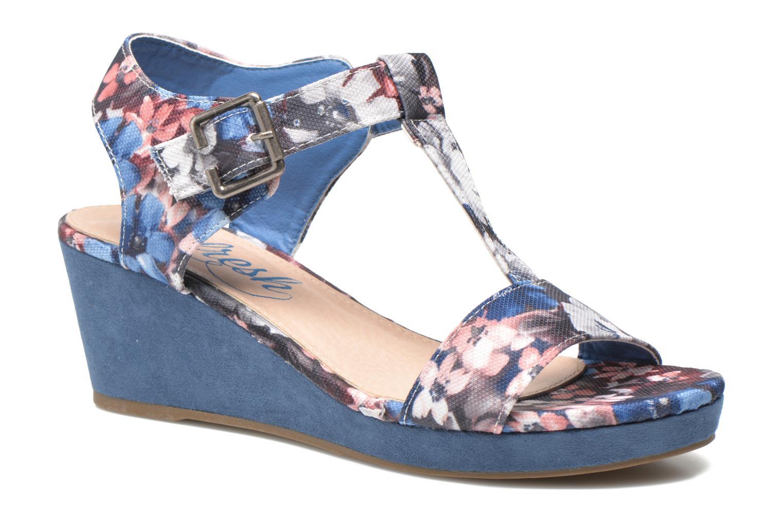 Sandales et nu-pieds Refresh Miralie-61768 Bleu vue détail/paire