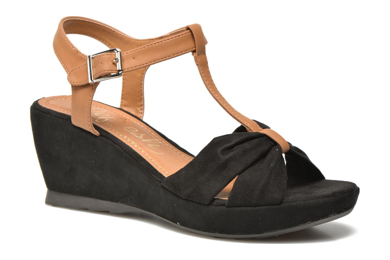 Sandales et nu-pieds Refresh Cassida-61790 Noir vue détail/paire