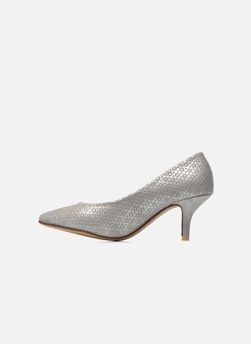 Zapatos de tacón Refresh Inidia-62055 Plateado vista de frente