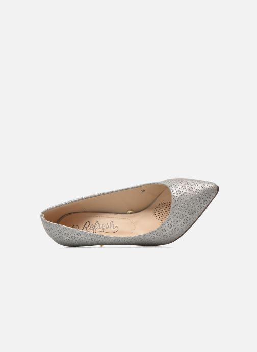 Zapatos de tacón Refresh Inidia-62055 Plateado vista lateral izquierda