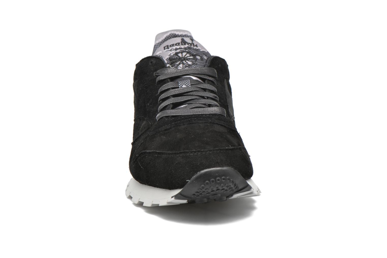 Sneaker Reebok Cl Leather Tdc schwarz schuhe getragen
