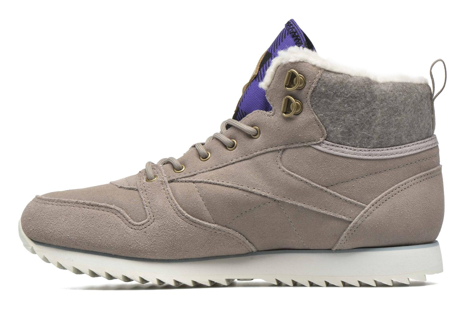 Trainers Reebok Cl Lthr Mid Outdoor Grey front view