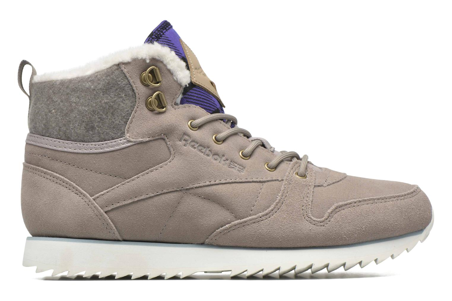 Trainers Reebok Cl Lthr Mid Outdoor Grey back view