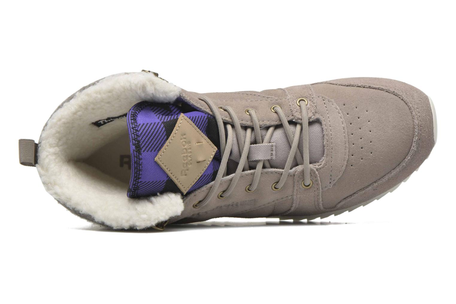 Trainers Reebok Cl Lthr Mid Outdoor Grey view from the left